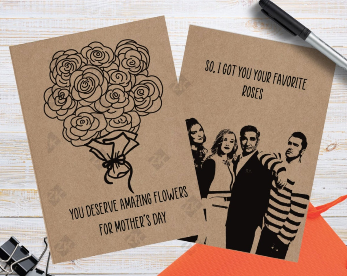 Schitt's Creek Mother's Day Card Your Favorite Roses Card Mom Card
