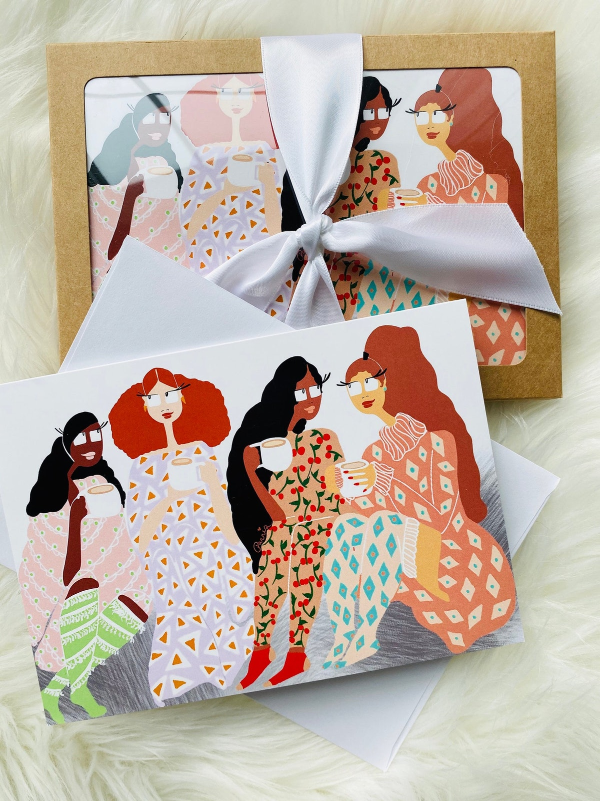 Cappuccino With Friends, Set of 5 Cards