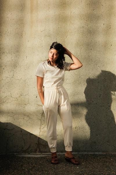 Women's Organic Jogger Pants in Natural