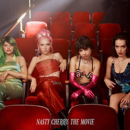 The album cover artwork for Nasty Cherry's 'Nasty Cherry: The Movie.'