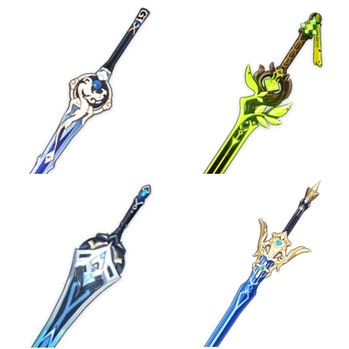 Leaked Genshin Impact Weapons Shattered Star, One Side (Bottom) Boreas Precocity, Freedom Sworn