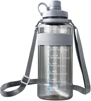 SHARLOVY Water Bottle with Handle Silicone