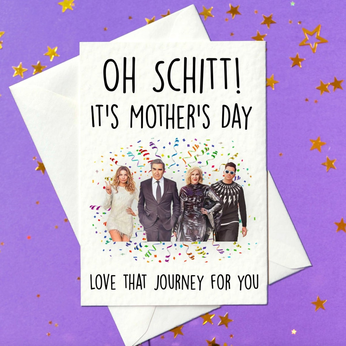 Oh Schitt It's Mother's Day - love that journey for you - Mothers Day Card