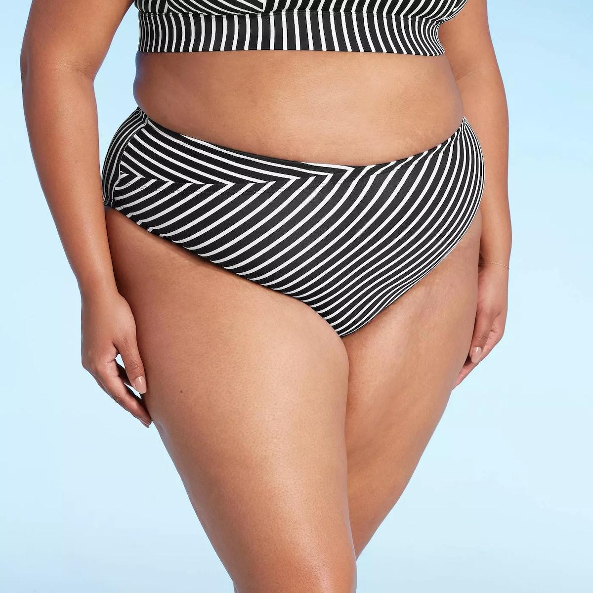 Kona Sol Women's Plus Size High Waist Bikini Bottom