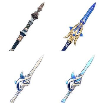 Genshin Impact Leaked Weapons Flagstaff Widsith, Regicide
