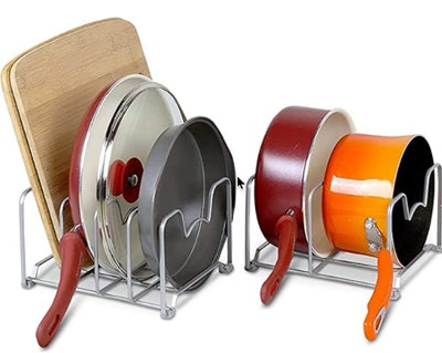 SimpleHouseware Kitchen Cabinet Pan and Pot Organizer (Set of 2)