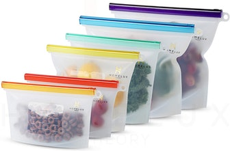 Homelux Theory Reusable Silicone Food Storage Bags (6-Pack)