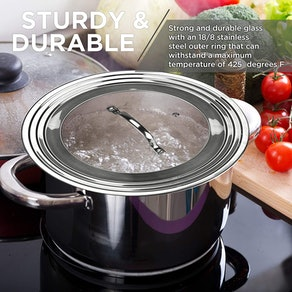 Modern Innovations Universal Lid for Pots and Pans