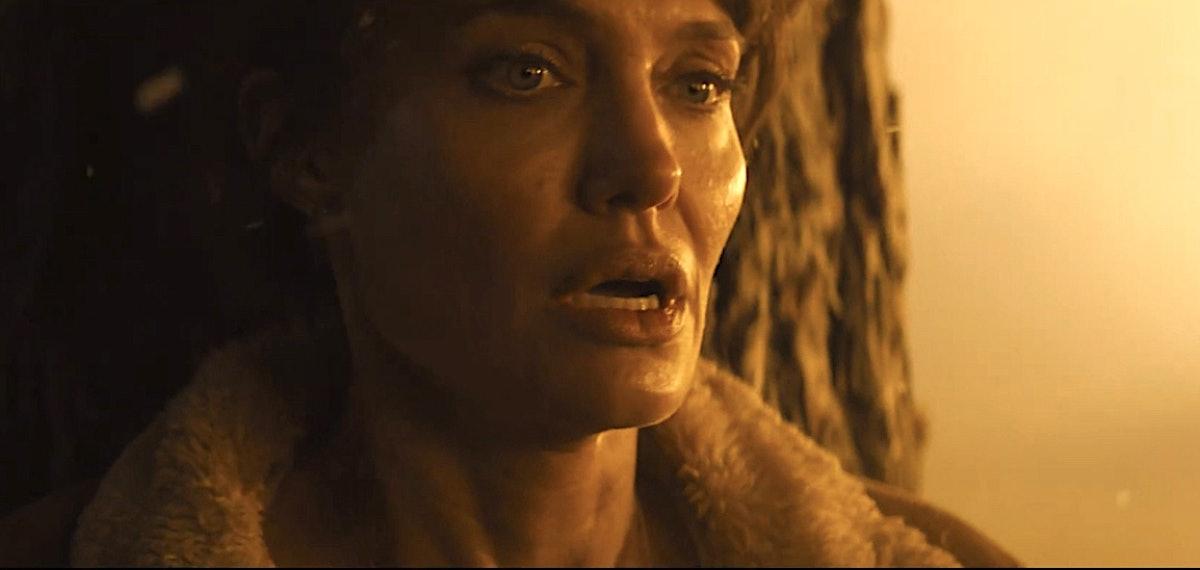 Angelina Jolie looking scared