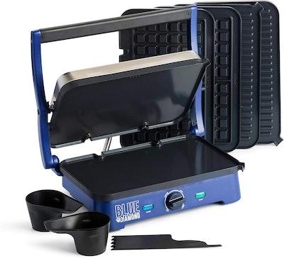 Blue Diamond Cookware Super Deluxe Ceramic Nonstick Electric Griddle