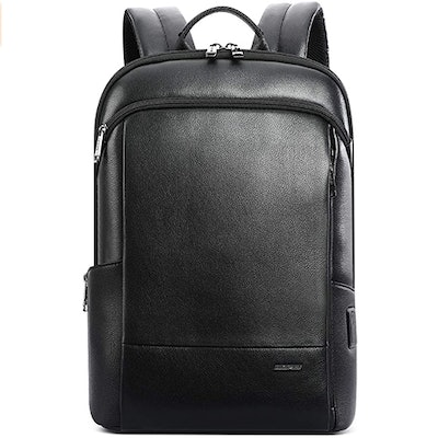 BOPAI Leather Laptop Backpack With USB