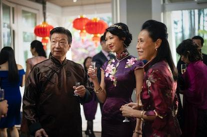 Tzi Ma as Jin Shen, Shannon Dang as Althea Shen and Kheng Hau Tan as Mei - Li in Kung Fu via The CW ...