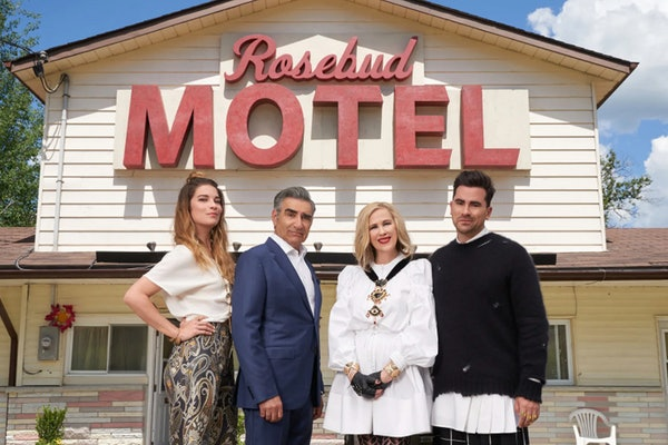 The Rose family on PopTV's 'Schitt's Creek'