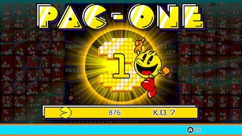 pac-man 99 victory screen pac one pac-one