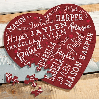 Close to Her Heart Personalized Mini Heart Puzzle