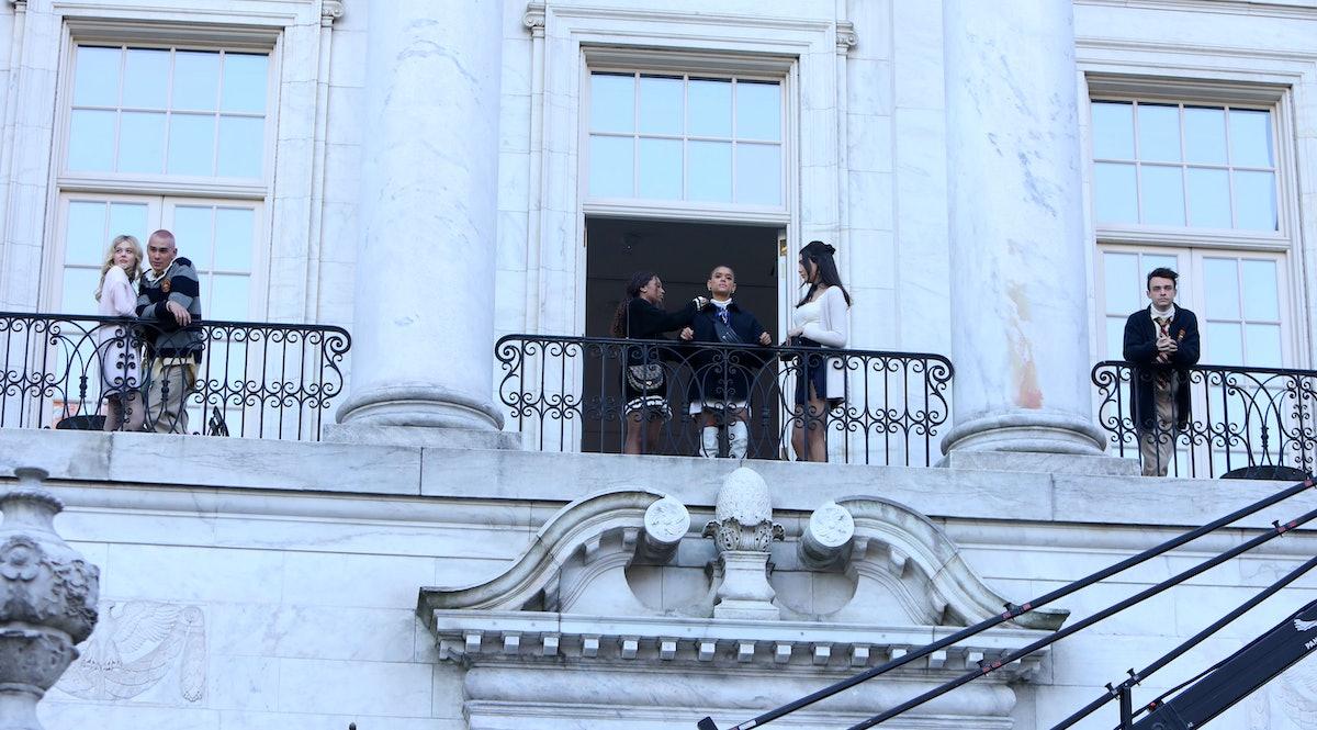 The Gossip Girl reboot cast on balconies
