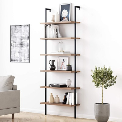Nathan James Theo 6-Shelf Tall Bookcase