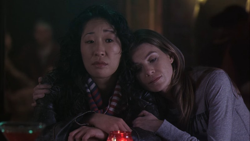 Meredith & Cristina have seen each other through love, loss, plane crashes, shootings, and more on 'Grey's Anatomy.' Screenshot via ABC
