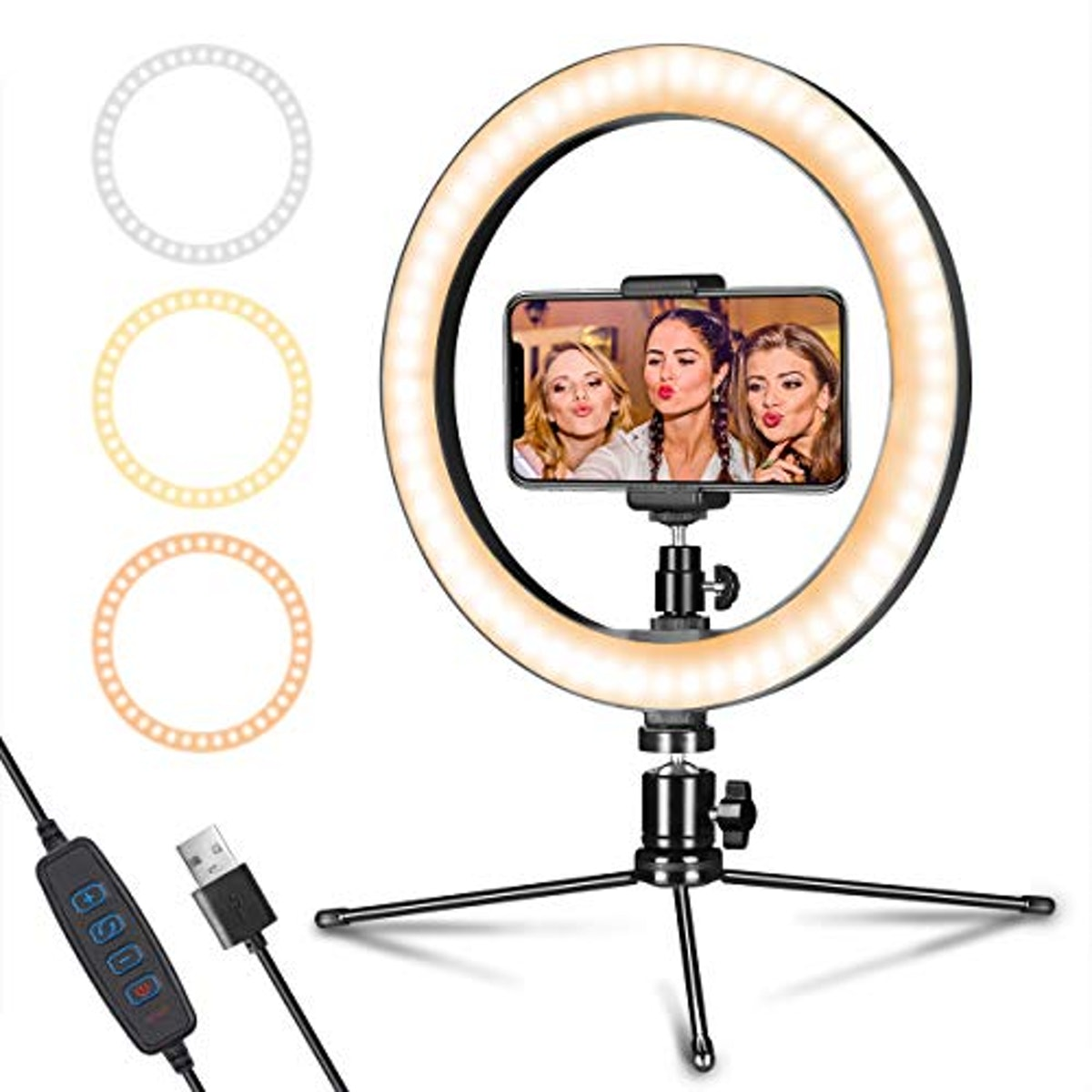 """AIXPI LED Ring Light 10"""" with Tripod Stand"""