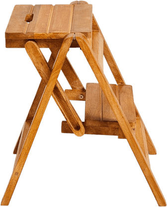 Folding Wooden Step Ladder