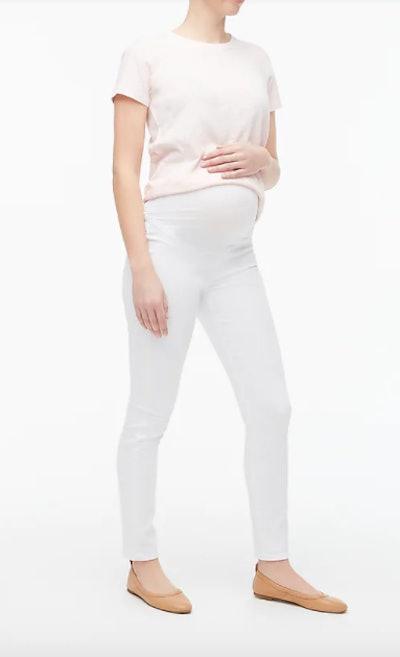 Maternity jean in white