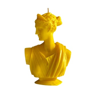 Artemis Bust Candle - Classic Yellow