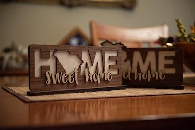 Custom Home Sweet Home State Sign