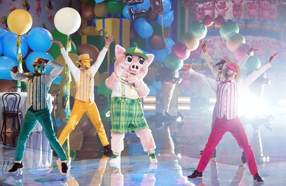 Piglet performing on The Masked Singer, via FOX press site.