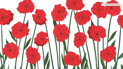 Illustrated Red Flowers