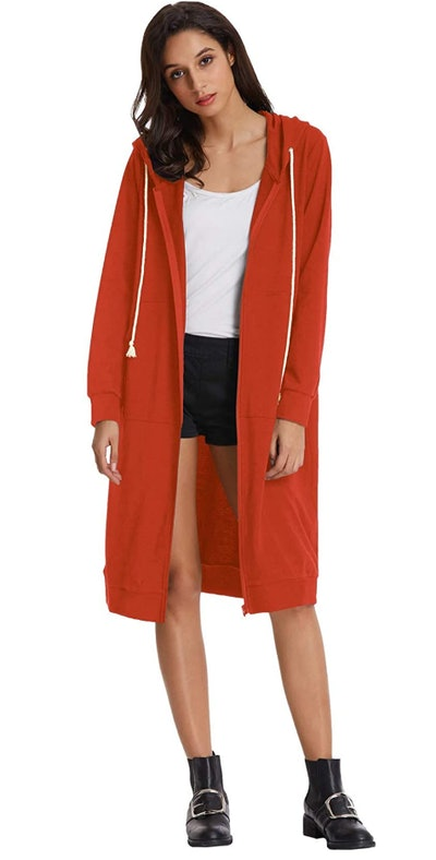Grace Karin Long Hoodie Jacket