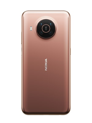 Back of Nokia X20 in Midnight Sun color. Smartphone. Mobile. Android 11.