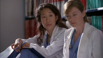 Cristina and Meredith became friends in the first episode of 'Grey's Anatomy. Screenshot via ABC