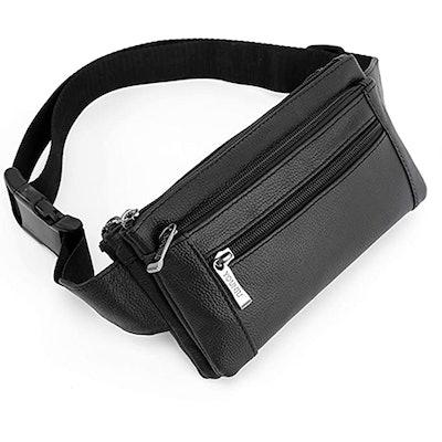 OrrinSports Leather Waist Bag