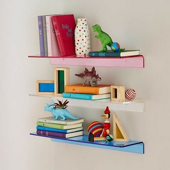 Bright Color Lucite Wall Shelf