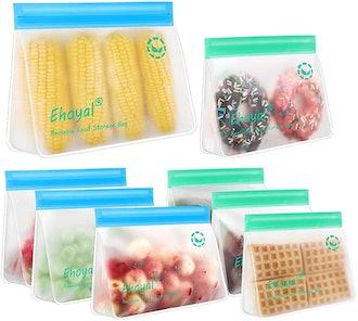 Ehoyal Reusable Food Storage Bags (8-Pack)