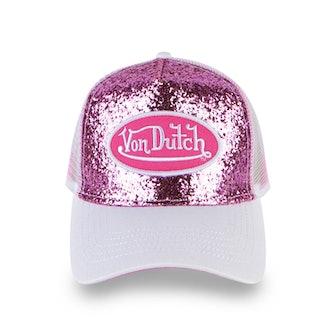 Light Pink Glitter Trucker Hat