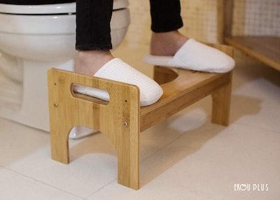EKOU PLUS Bamboo Squatting Toilet Stool