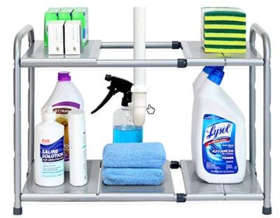 SimpleHouseware Under Sink 2-Tier Expandable Shelf Organizer