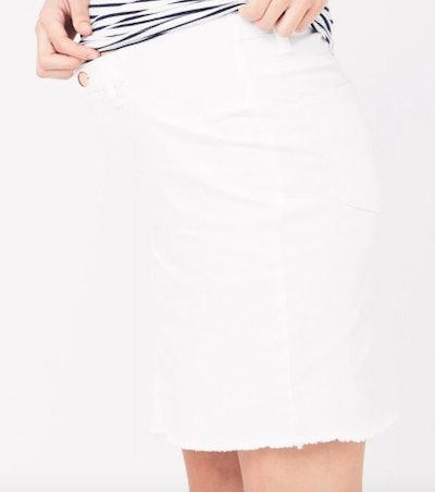 Isla Distressed Mini Skirt White