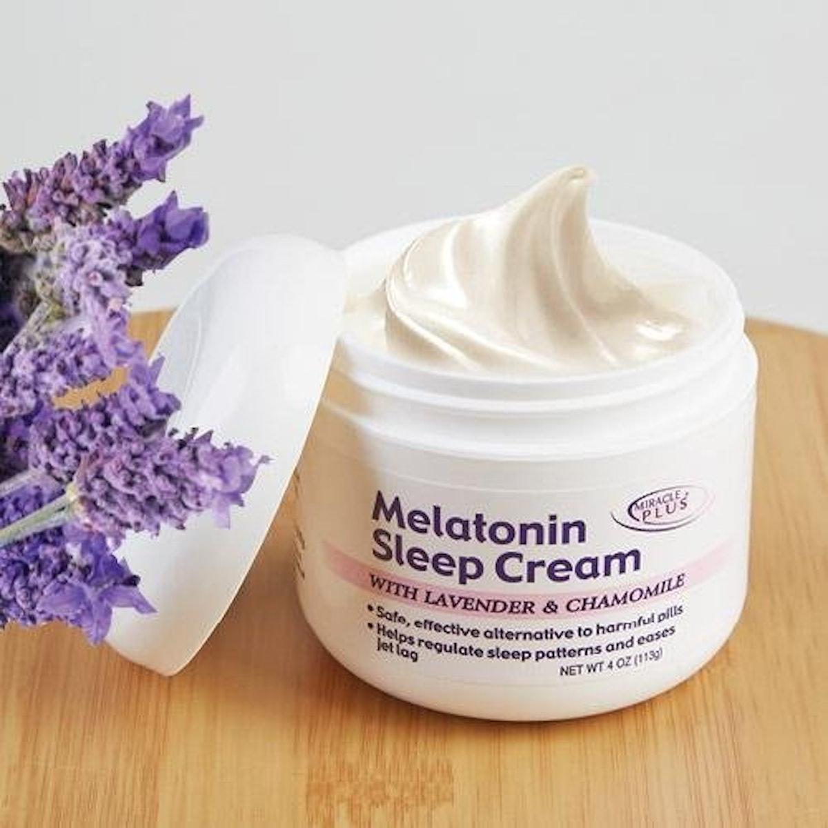 Melatonin Sleep Night Cream With Lavendar & Chamomile (4oz)
