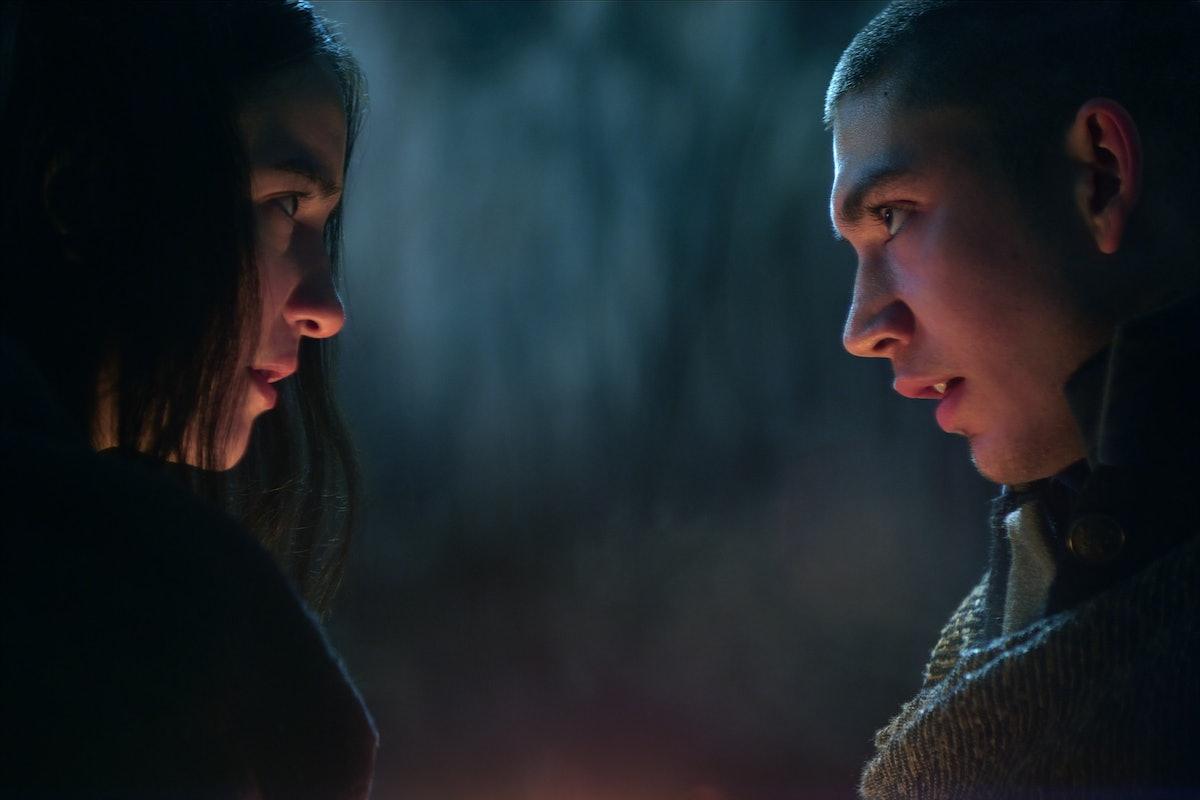 JESSIE MEI LI as ALINA STARKOV and ARCHIE RENAUX as MALYEN ORETSEV in SHADOW AND BONE