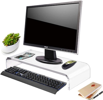 DYCacrlic Clear Acrylic Computer Monitor Stand