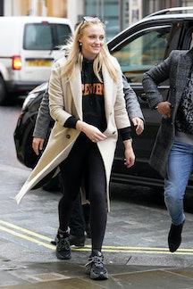 Joe Jonas and Sophie Turner seen shopping on January 30, 2020 in London, England.