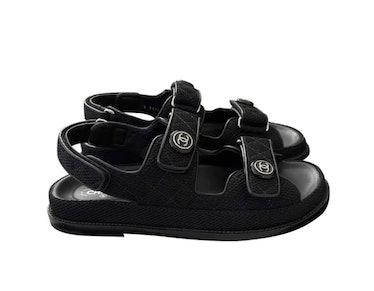 Dad Cloth Black Sandals
