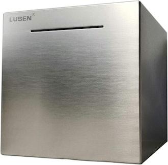 LUSEN Stainless Steel Safe Box