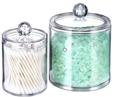 SheeChung Bathroom Vanity Apothecary Jars (2-Pack)