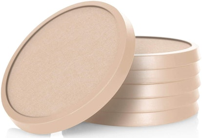 Comfortena Silicone Absorbent Coasters (6-Pack)