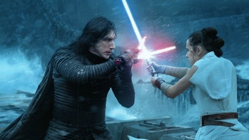 """Kylo Ren and Rey in """"The Rise of Skywalker"""""""