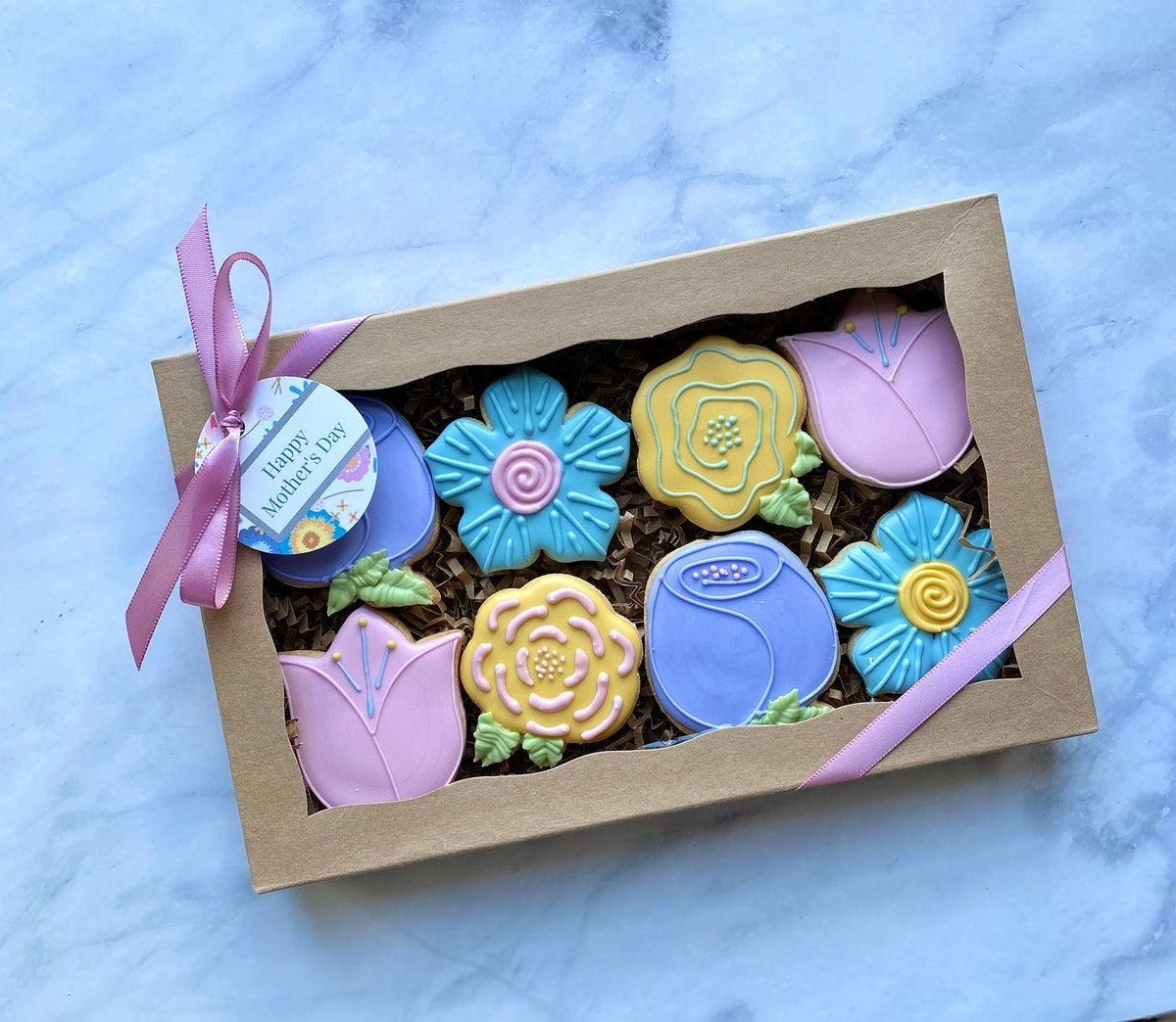 Mother's Day Cookie Flower Birthday Gift Box