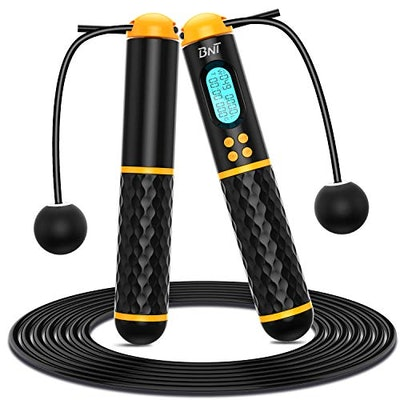 BNT Jump Rope, Speed Skipping Rope with Calorie Counte